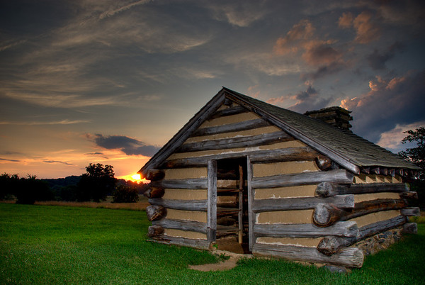 Soldier Cabin at Sunset