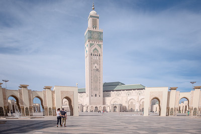 The Hassan II mosque, casablanca