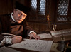 Martin Luther translating in the Wartburg Castle