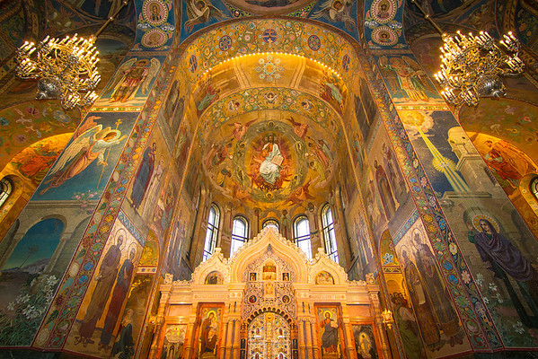 The Church on Spilt Blood in St. Petersburg was built over the site where Tsar Alexander II was assassinated. The interior is decorated purely in mosaics, with an overwhelming 9 billion tiles covering the walls. It is a sight to behold, and one of many reasons why tourists flock to St. Petersburg.
