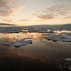 Pack-ice sunset, South Orkneys, Antarctica