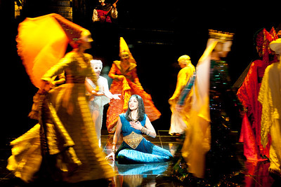 The Oregon Shakespeare Festival. 2012. Medea/Macbeth/Cinderella. Adapted by Bill Rauch & Tracy Young from the plays by Euripides, Shakespeare, and Rodgers & Hammerstein. Co-directors: Bill Rauch and Tracy Young. Scenic Design: Rachel Hauck. Costume Design: Deborah M. Dryden. Lighting Design: Christopher Akerlind. Photo: Jenny Graham.