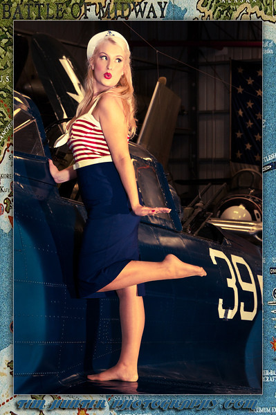 "Tim Hunter's Hunny Bunny Ms. Dutch Van Kirk <br /> with the Dauntless Dive Bomber remembering the Battle of Midway<br /> <br />  <a href=""http://www.timhunterphotography.com"">http://www.timhunterphotography.com</a>,  <a href=""http://www.facebook.com/timhunterphotography"">http://www.facebook.com/timhunterphotography</a>,  <a href=""http://www.instagram.com/timhunterphotography"">http://www.instagram.com/timhunterphotography</a>,  <a href=""http://www.twitter.com/photobytim"">http://www.twitter.com/photobytim</a>"