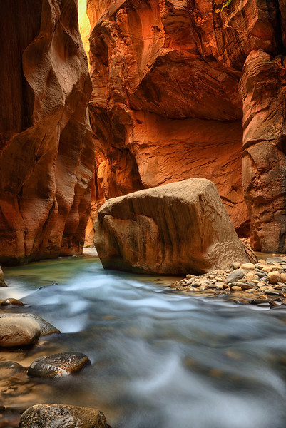 Virgin River in the Narrows, Zion National Park