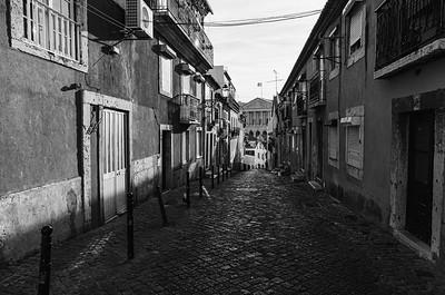 Alleyway in B/W, Lisbon - Kent Atwell