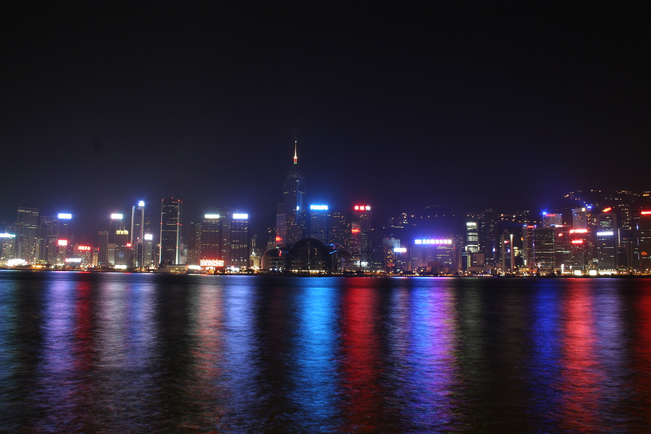 Hong Kong from Kowloon, Victoria Harbour