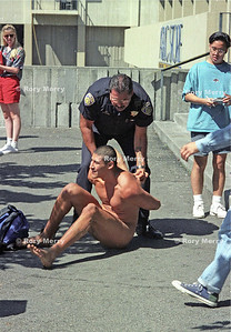Andrew Martinez being arrested in Berkeley, California ... at the University of California, Berkeley, where he was known as the Naked Guy. ... Campus police first arrested him that fall for indecent exposure when he jogged naked near ... the buff and he became the first person arrested under the new city ordinance. ...