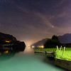 Lake Brienz, Switzerland at night