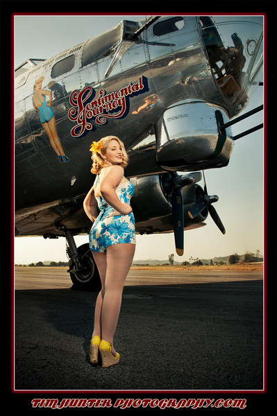 """Tim Hunter's Hunny Bunny - Kiera - with the Commemorative Air Force B-17 """"Sentimental Journey""""<br /> <br />  <a href=""""http://www.timhunterphotography.com"""">http://www.timhunterphotography.com</a><br />  <a href=""""http://www.facebook.com/timhunterphotography"""">http://www.facebook.com/timhunterphotography</a><br />  <a href=""""http://timhunterphotography.tumblr.com/"""">http://timhunterphotography.tumblr.com/</a><br />  <a href=""""https://twitter.com/photobytim"""">https://twitter.com/photobytim</a>"""