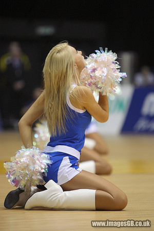 17 Jan 2010 - Birmingham NIA - BBL Babes perform during BBL Cup Final at the National Indoor Arena in Birmingham