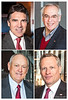 'Four Texas Legends' <br /> (clockwise from top left) <br /> Rick Perry, Texas Governor<br /> Brad Sham, The Voice of The Dallas Cowboys<br /> H. Ross Perot, Jr, Texas Businessman and Son of Ross Perot<br /> Nolan Ryan, Hall of Fame MLB Pitcher for Texas Rangers/Houston Astros