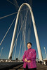 Lyda Hill on the Margaret Hunt Hill Bridge, named after her mother.<br /> March 4, 2012<br /> Photo © Daniel Driensky