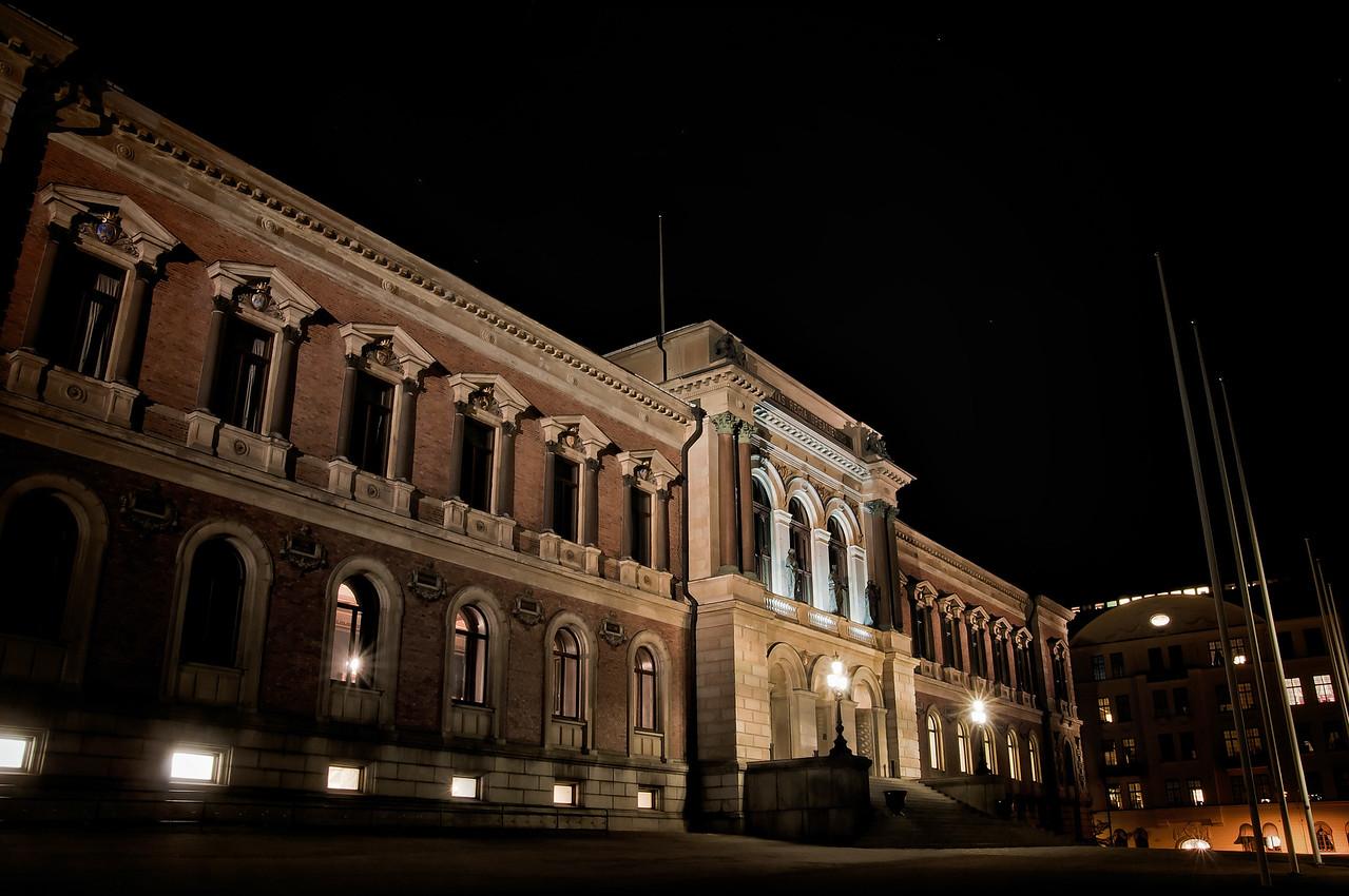 Natt vid Uppsala universitets universitetshus