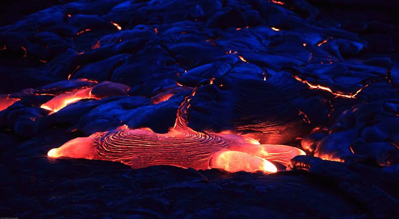 Lava at night