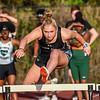 Girls hurdles at Carl Friedlander track meet at Bishop Moore.