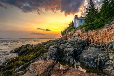 Bass Harbor Lighthouse Sunset- Bass Harbor Maine - Tom Sloan