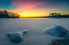 Winter Sunrise on Frigid Morning - Hopkinton State Park