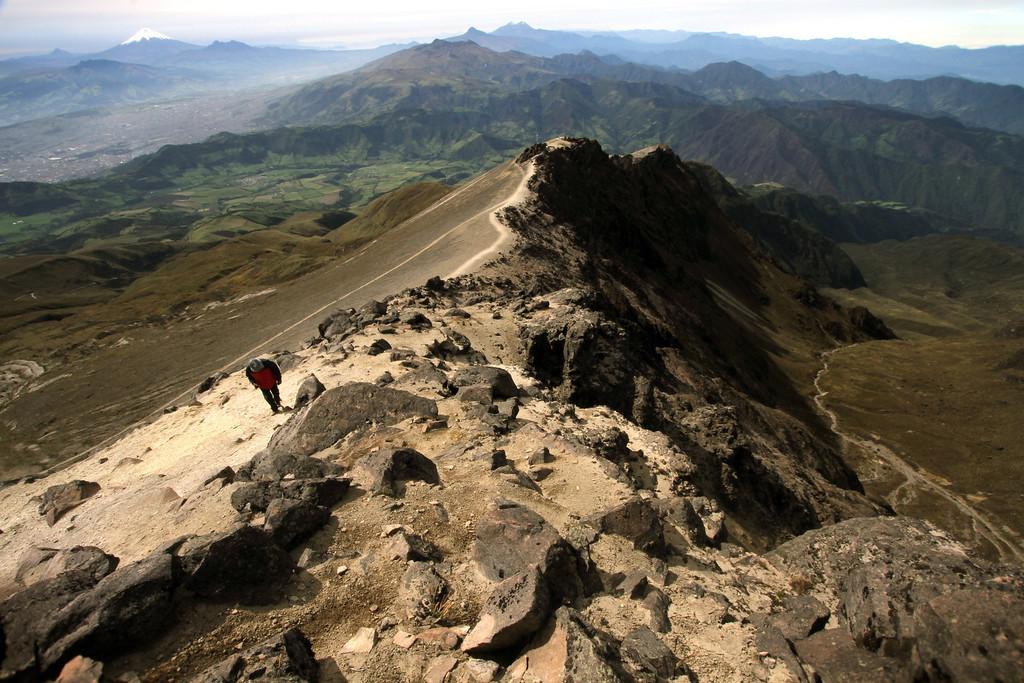 Alfonso heads uphill<br /> <br /> Guagua Pichincha, Ecuador
