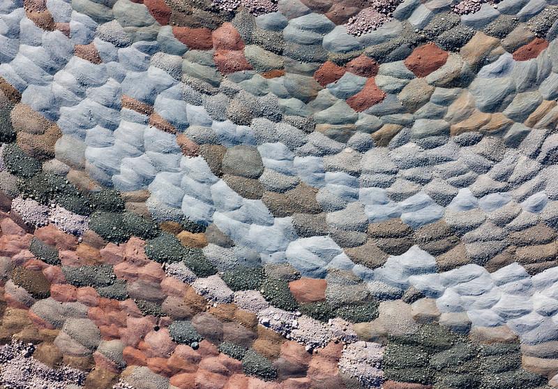 Aerial - Gravel piles - AZ