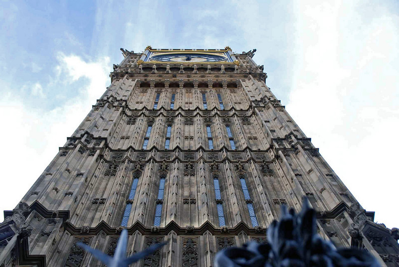 The Big Ben clock tower.