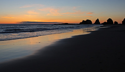 Beach at Sunset. Oceanside, Oregon