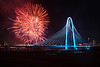 Fireworks Over The Margaret Hunt Hill Bridge, March 2, 2012<br /> Dallas, TX<br /> Photo © Daniel Driensky