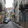 Festive Street in the Old Section, Lisbon - Kent Atwell