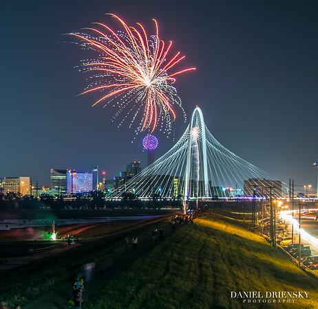 '4th of July 2015' <br /> (Illegal Fireworks Display)<br /> Dallas, TX 7/4/15<br /> Photo © Daniel Driensky 2015