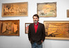 Wayne White, Artist, With His 'Word Paintings'<br /> Location: Marty Walker Gallery, Dallas TX<br /> Photo © Daniel Driensky 2012