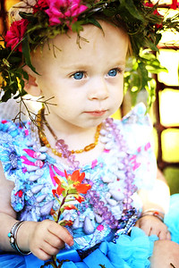 One year photos- flower crown
