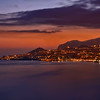 Dusk falls on Funchal as the lights slowly come on in the city by the sea.