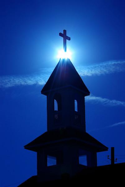 Backlit Church, Sunnyvale, TX (Feb 2008)