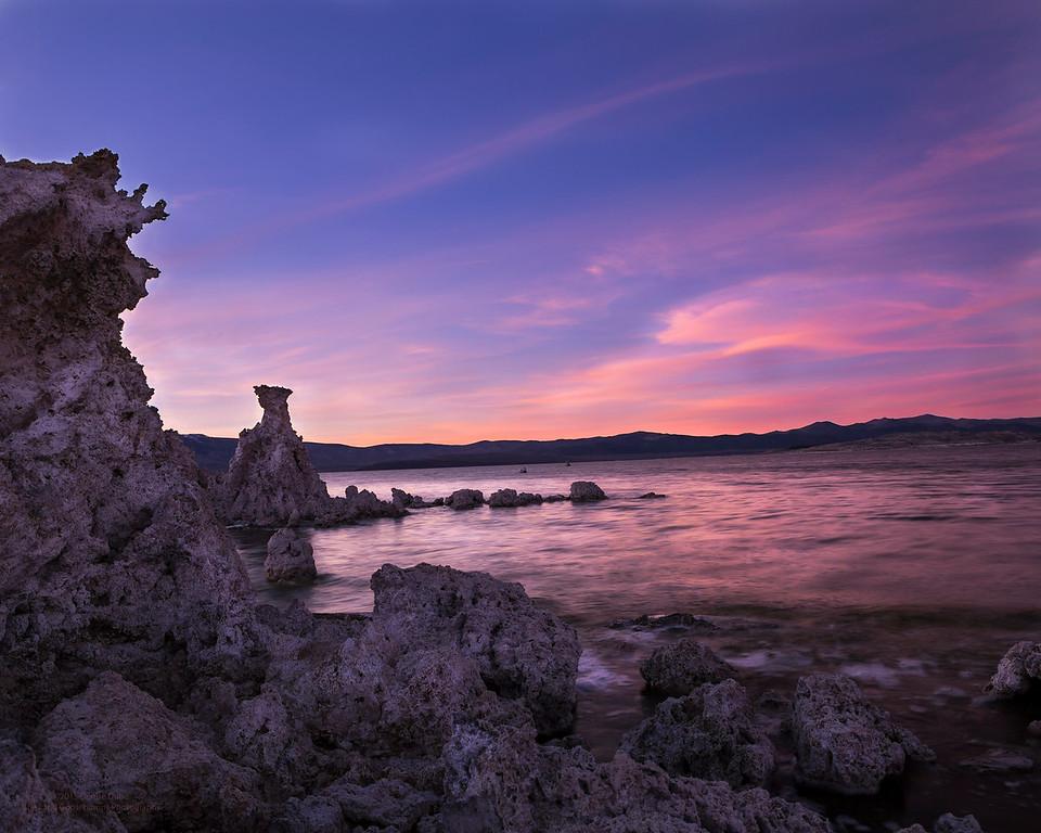 Tufas overlooking Sunset on Mono Lake
