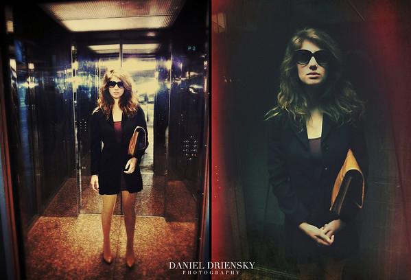 'Elevator Business Chic'<br /> model: Jordyn Ashley<br /> photos taken/edited with iPhone4<br /> Daniel Driensky  2011