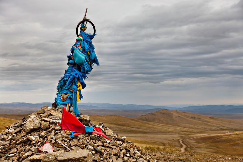 Mongolian shaman's shrine