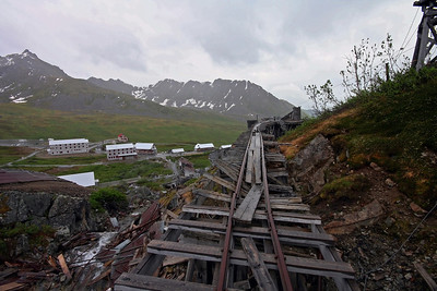 Abandoned Tramway. Independence Mine State Historical Park, Alaska.