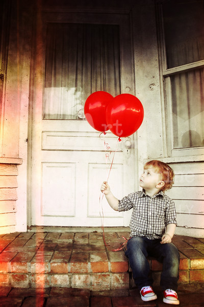 Two Year Photo Shoot- Red Balloons