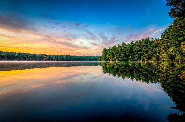 Fall Sunrise - Ashland State Park, Ashland, MA