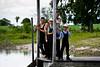 Mennonite boys on New River - Belize