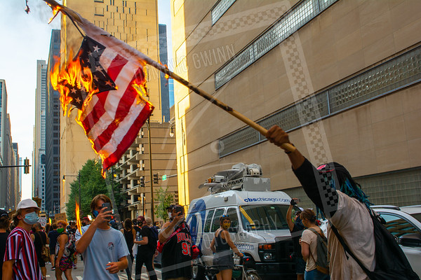 Burning a flag in Chicago