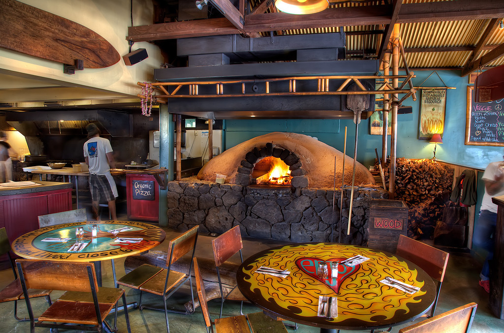 This is a neat little restaurant we ate at for lunch after our helicopter ride in Maui. The place is called flatbread.