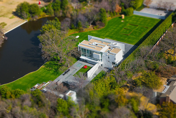 """""""The Rachofsky House"""" Richard Meier Home -- featured in March 2015 issue of FDHouse <br /> Photographed from above on a helicopter<br /> © Daniel Driensky 2015"""