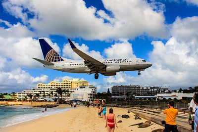 Over the Beach! Maho Beach, Sint Maartin, Netherlands Antilles