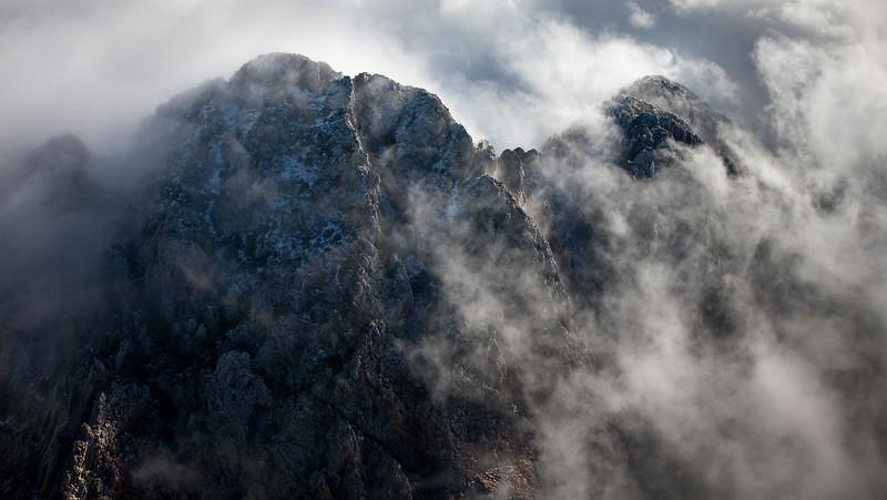 Strange cloudy snowy day in Arizona