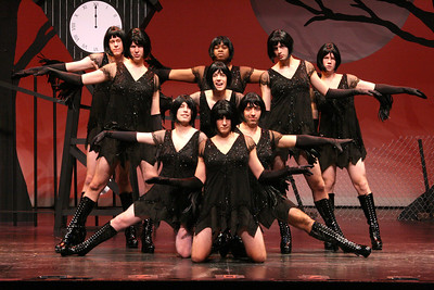 "The Daily Princetonian, November 13, 2008 - Front Page Standalone  Caption: The Triangle Club's famous all-male kickline shows off its legs in the club's newest original musical, ""Stark Raven Mad: An Edgar Allen Show."" The crowd-pleasing tradition has been featured in every show the club has produced for more than a century."