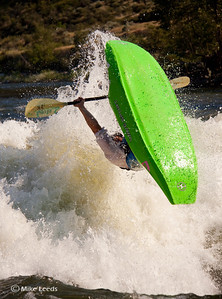 "Will Parham with a giant ""Loop"" at Climax surf wave on the Main Payette River, Idaho."