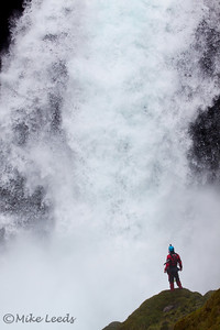 Kyle Hull after another successful descent of Sahalie Falls, Oregon