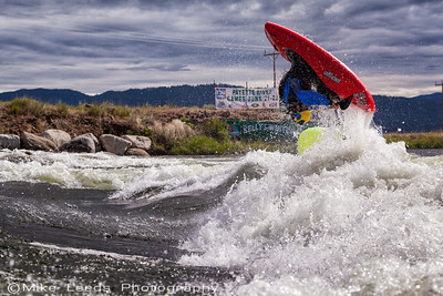 Stephen Wright going huge with an Air Loop at the Payette River Games 2013