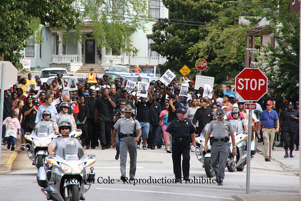 Photojournalism - Black Panther march in Newberry, SC  (July 2010)