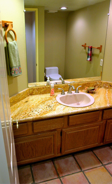 Remodeled bathroom.